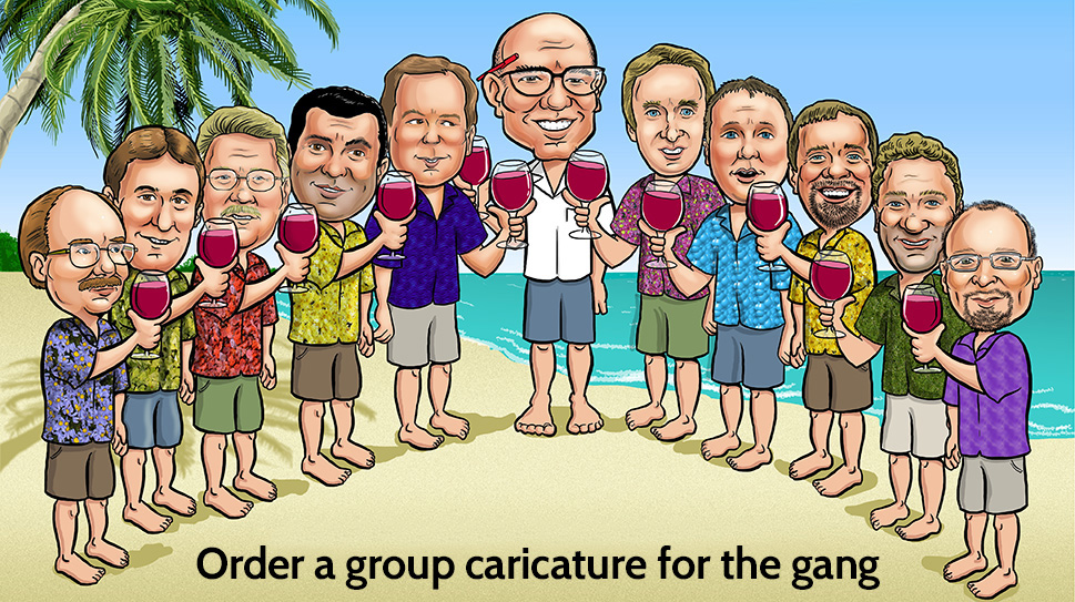 eleven people in Caricature