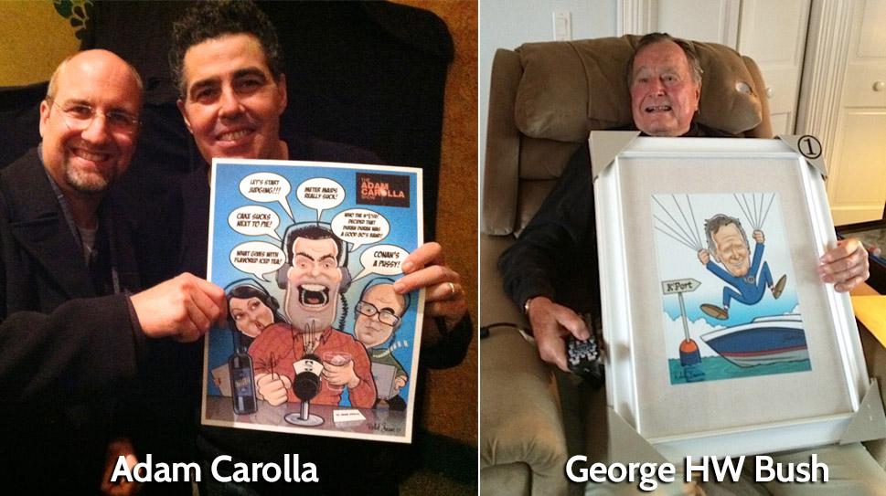 George Bush Caricature