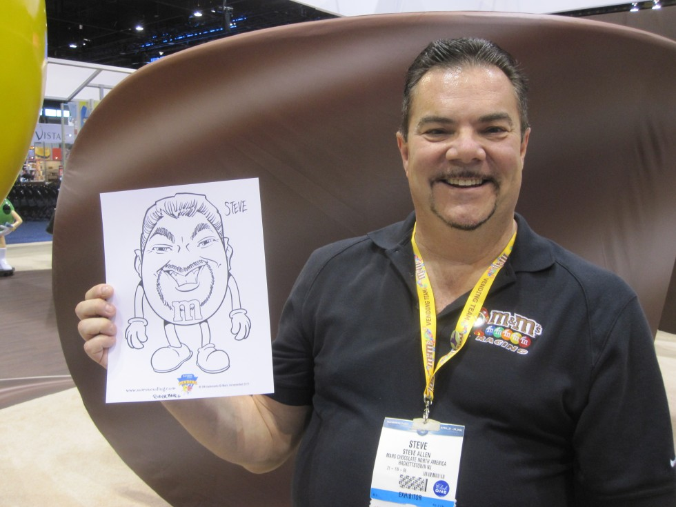 m&m Caricatures for Mars Chocolate at NAMA