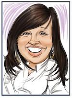 digital sketch - caricature woman