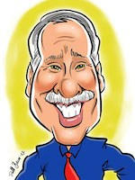 caricature older man - digital sketch
