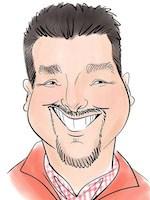 caricature smiling man - digital esketch