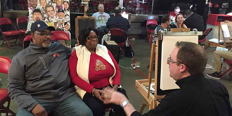 corporate event caricature artist