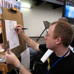 hire trade show caricature artist