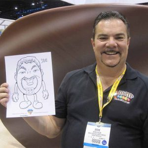 caricatures from trade show