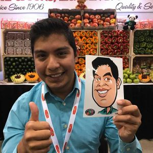 great caricature for trade show