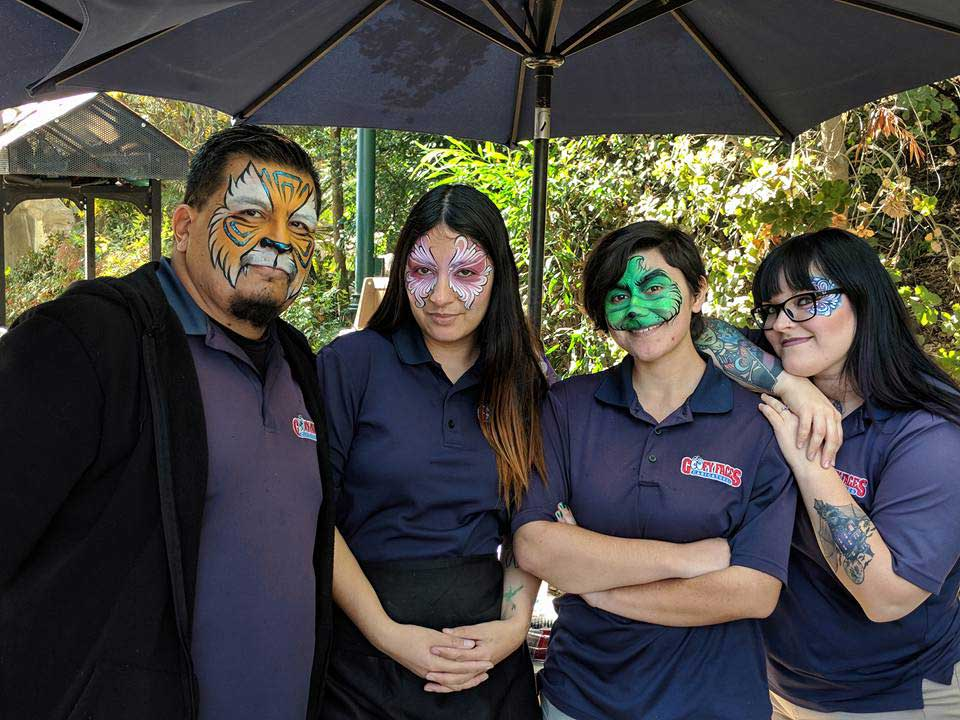 Goofy Faces Face Painting Crew