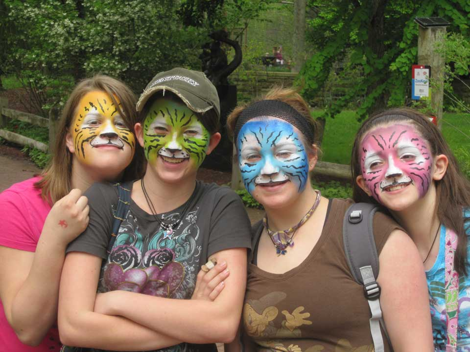 Group Face Painting
