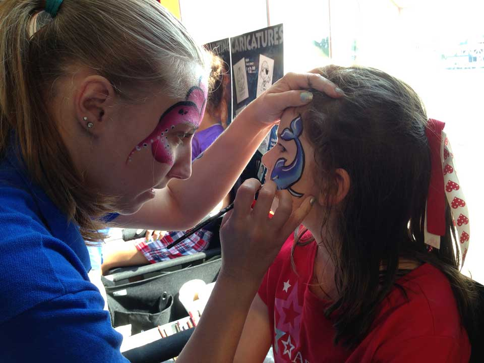 Face Painting Close Up