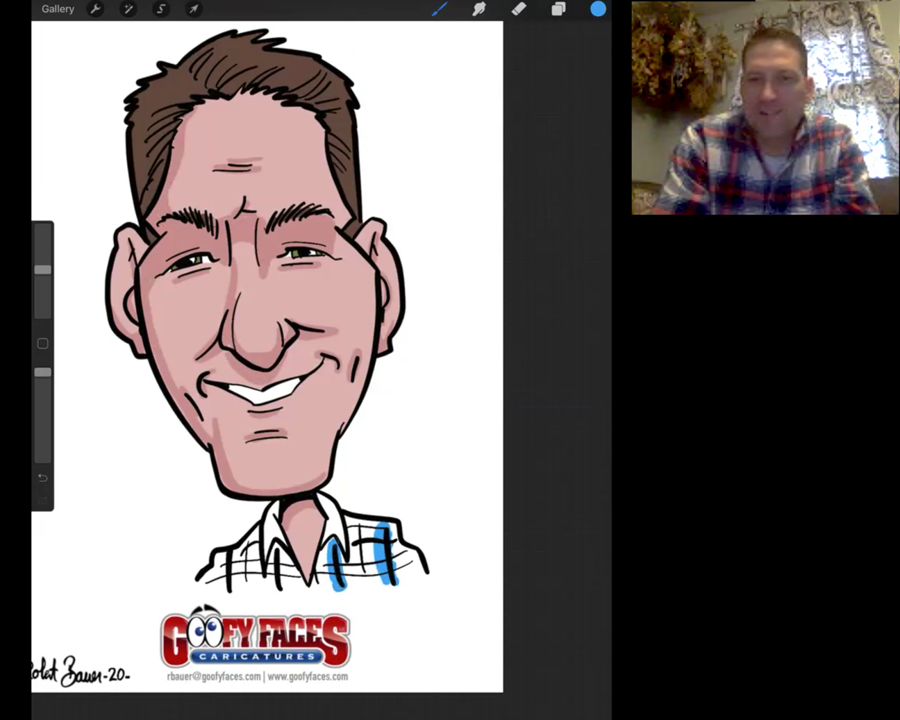 Full Color Caricature Artist Will Create Custom Caricature For Your Face