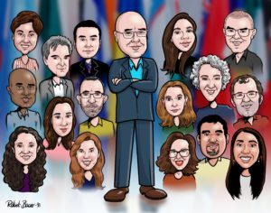 Office group caricature